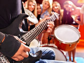 Group people playing  drum. — Stock Photo