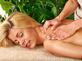 Woman getting  facial massage . — Stock Photo