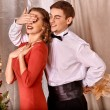 Couple on Christmas party. — Foto Stock #58344551