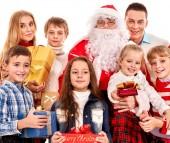 Children with Santa Claus. — Stock Photo