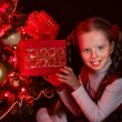 Child with gift box — Stock Photo #58940887