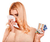 Woman  having  cold. — Stock Photo