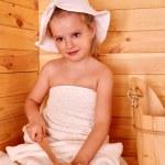 Girl in sauna — Stock Photo #62786197
