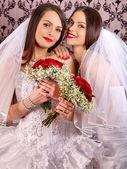 Lesbian wedding — Stock Photo