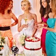 Girls at hen-party — Stock Photo #62822305