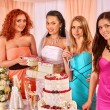 Group of girls at hen-party. — Stock Photo #67899581