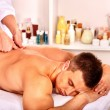 Man getting massage in spa. — Stock Photo #67904381
