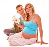 Pregnant woman with husband. — Stock Photo