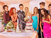 Group people at wedding — Stock Photo
