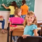 School child with teacher. — Stock Photo #70762157