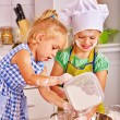 Children making breakfast — Stock Photo #70762515