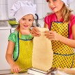 Children making pasta. — Stock Photo #70762533