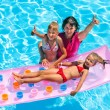 Family in swimming pool. — Stock Photo #71724475