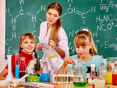 Child in chemistry class. — Stock Photo