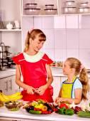 Children cooking at kitchen. — Stock Photo