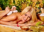 Woman getting  massage . — Stockfoto