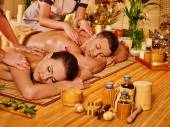 Man and woman relaxing in spa. — Stock Photo