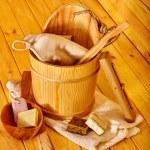 Still life with sauna accessories. — Stock Photo #75134113