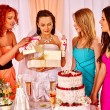 Women at hen-party before wedding — Stock Photo #75152909