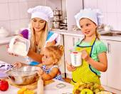Mother and grandchild baking cookies. — Stock Photo