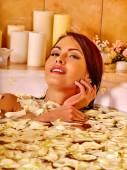 Woman at luxury spa — Stock Photo