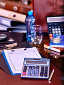 Business still life on table. — Stock Photo