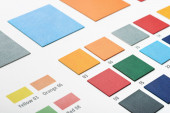 Artificial leather color swatches — Stock Photo