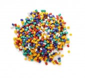 Plastic pellets — Stock Photo