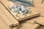 Assembling furniture — Stock Photo