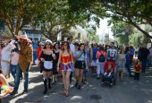 A Purim street party in Tel-aviv Israel — Stock Photo