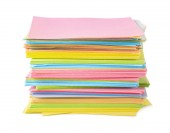 Color paper notes — Stock Photo