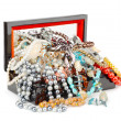 Box full of jewelry — Stock Photo #77763620