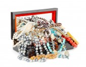 Box full of jewelry — Stock Photo