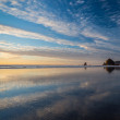 Haystack Rock beach reflection — Stock Photo #68127821