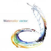 Abstract watercolor pen — Stockvektor