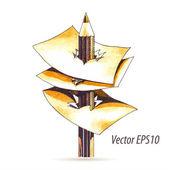 Abstract watercolor pencil — Stok Vektör