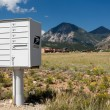 USPS metal mailboxes for rural homes Colorado — Stock Photo #52302031