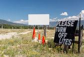 Drive in movie theater in Buena Vista CO — Stock Photo
