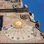 Old sundial on Fembohaus StadtMuseum  — Stock Photo #61426207