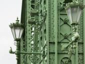 Detalhe da ponte da liberdade Budapeste — Fotografia Stock