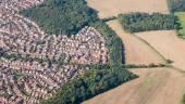 Suburban sprawl near Luton, England — Stock Photo
