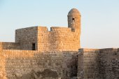 Old Bahrain Fort at Seef in late afternoon — Stock Photo