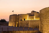 Old Bahrain Fort at Seef at sunset — Stock Photo