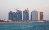 Construction of apartment buildings in Budaiya Bahrain — Stock Photo