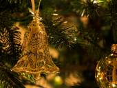 Christmas decoration on tree — Stock Photo