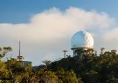 Radome radar device Waimea Canyon Kauai — Stock Photo