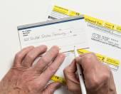 US IRS Tax form 1040-ES — Stock Photo