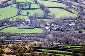 Overview of Widecombe in the Moor on Dartmoor — Stock Photo