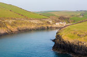 South West coast path near Port Quin Cornwall — Stock Photo