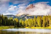 Magic mountain landscape — Stock Photo